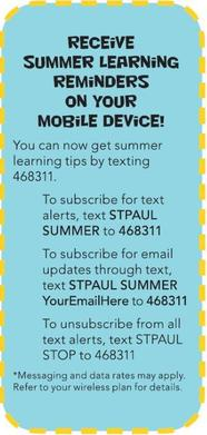 Summer Learning Reminders