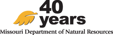 MissouriDNR 40th anniversary logo