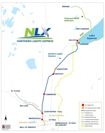 NLX map