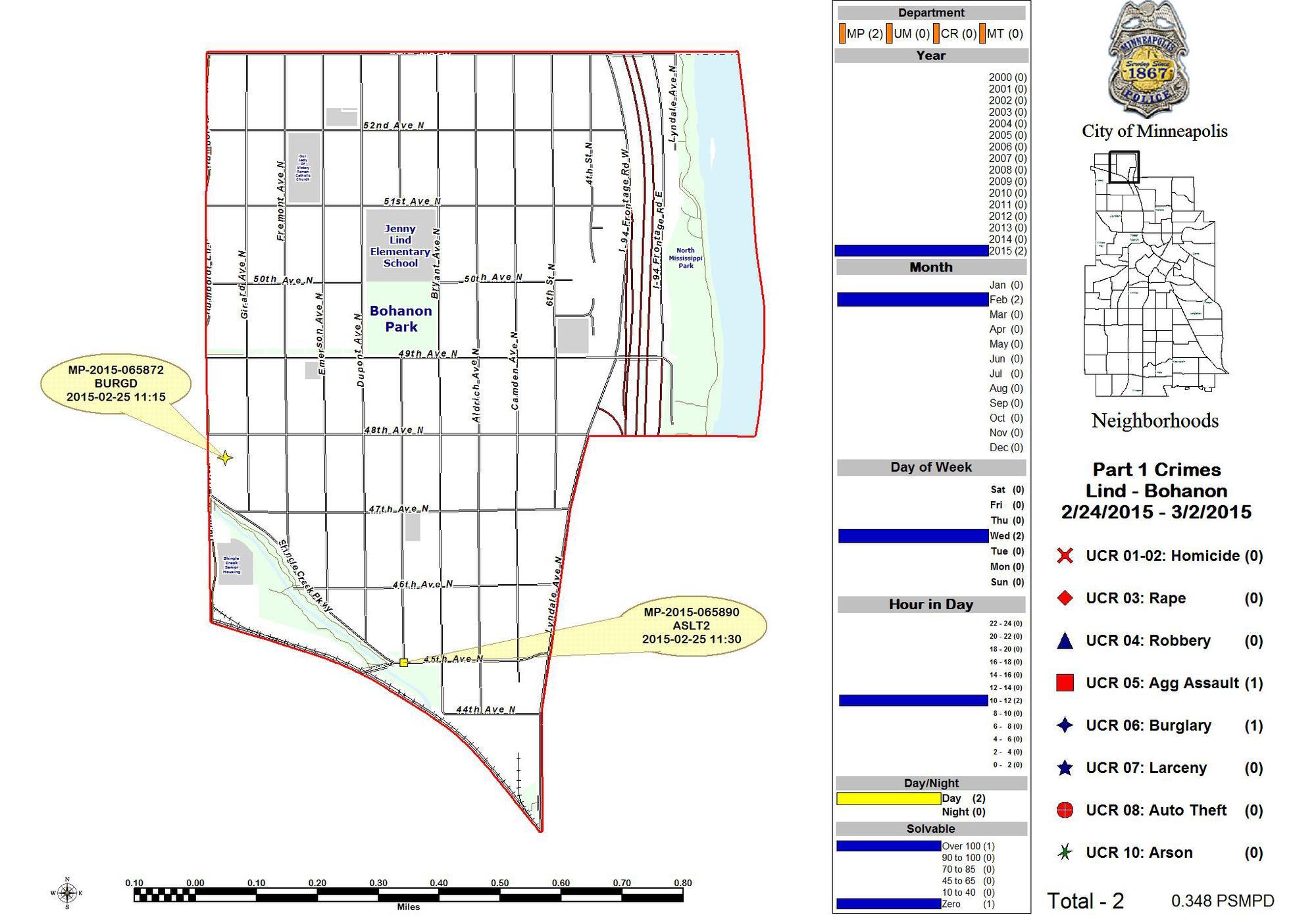 Minneapolis Police Precinct 4 (Sector 3) Update - Last Week\'s Maps