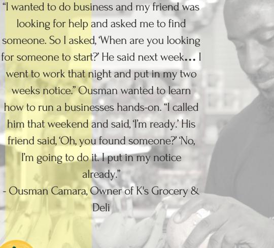 Ousman Camara - Owner of K's Grocery & Deli
