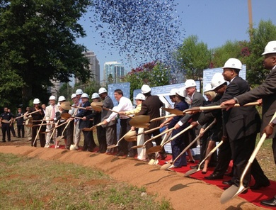 Blue Line ground-breaking