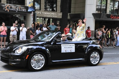 Mayor Patsy Kinsey at Pride Parade
