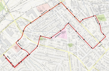 Noda 5K route