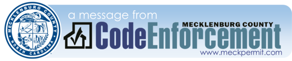 A Message From Code Enforcement