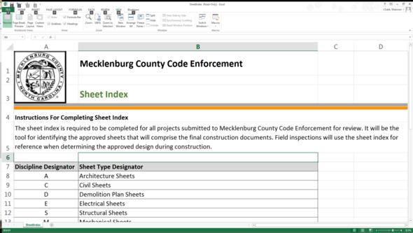 New Sheet Index