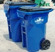 Blue Recycling Carts