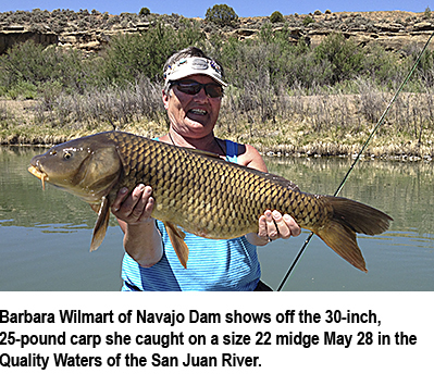 New mexico fishing and stocking reports for june 3 for Hopewell fish and game