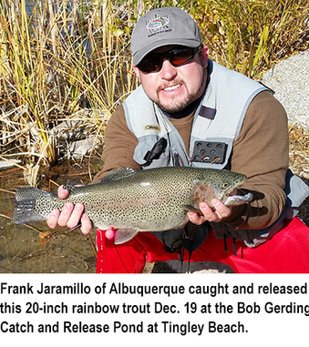New mexico fishing and stocking reports for dec 30 for Nm fish stocking report