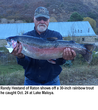 Nm game and fish fishing report for october 27 2015 for Lake fishing games