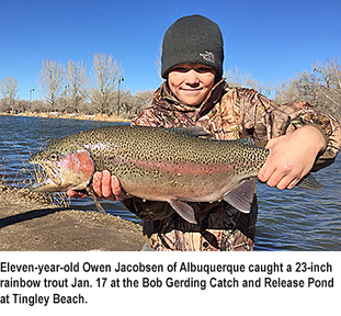 New mexico fishing and stocking report for jan 19 for Nm fish stocking report