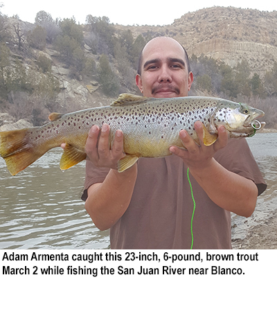 Nm game and fish fishing report for march 8 2016 krtn for Conchas lake fishing report