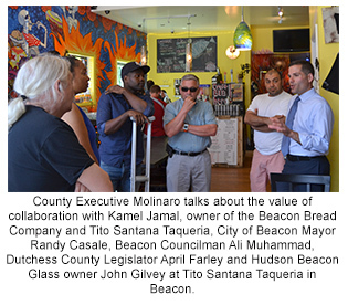 County Executive Molinaro talks about the value of collaboration with Kamel Jamal, owner of the Beacon Bread Company and Tito Santana Taqueria, City o