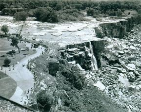 Dewatering Niagara Falls occurred in 1969 for a study of the Falls' geology.