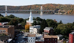 Poughkeepsie from Mid Hudson Bridge