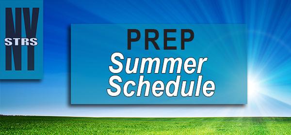 PREP Summer Schedule
