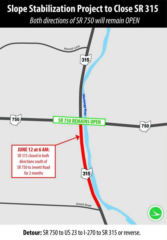 SR 315 Closure Graphic