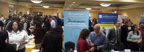 Independence Job Fair Crowd