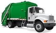 Green Trash Truck