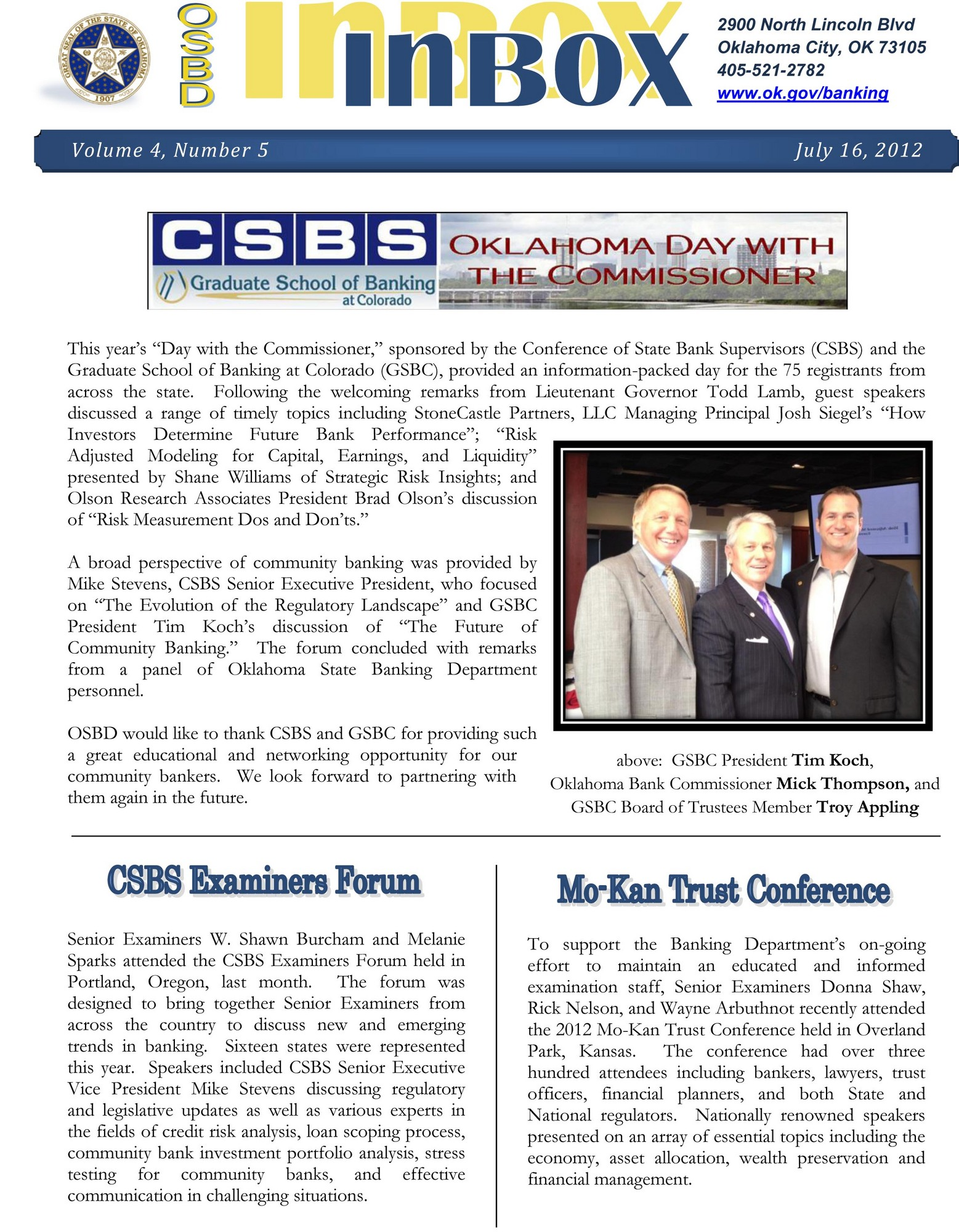 Newsletter - Volume 4 Number 5