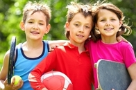 Children ready to play sports