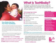 Text 4 baby flyer image