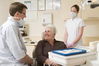 Adult patient at the dentst