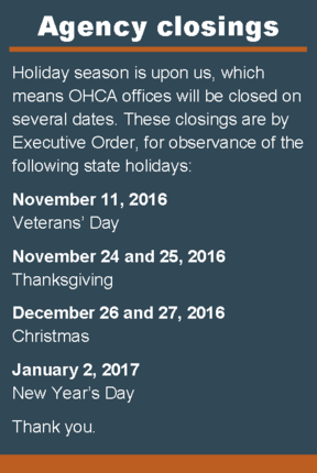 Holiday closings_winter 2016 - 2017
