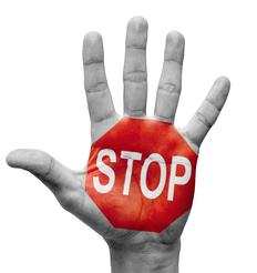 Stop hand gesture