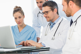 Providers online on their laptop