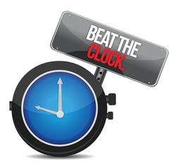 Beat the clock illustration