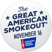 Great American Smokeout Sticker 2017