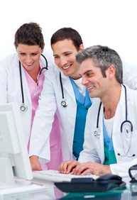 Happy medical team receives PA approval through the Provider Portal