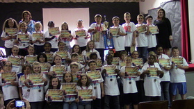 Fox Elementary students won Think Through Math's March Math Madness competition.