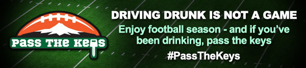 pass the keys banner driving drunk is not a game