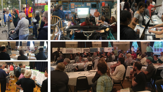 Collage of public meetings