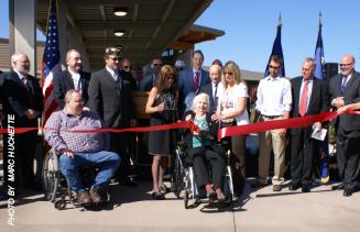 Lebanon Oregon Veteran's Home ribbon cutting
