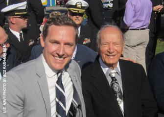 ODVA Director Cameron Smith with former Navy pilot Dario Raschio