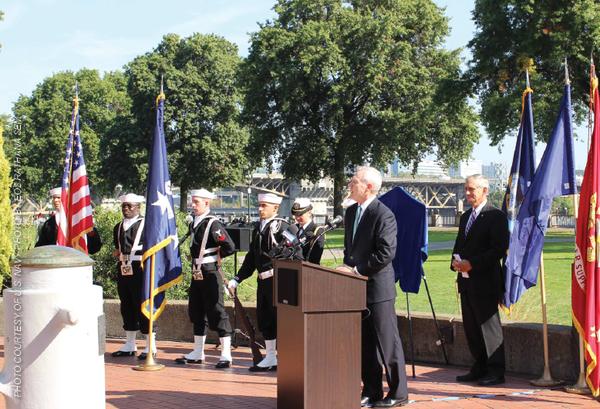 Navy Vessels naming ceremony