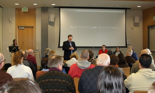 Town Hall on Wage Theft at PCC's Rock Creek Campus on January 19th, 2013