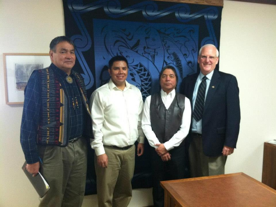 Hansell with Confederated Tribes