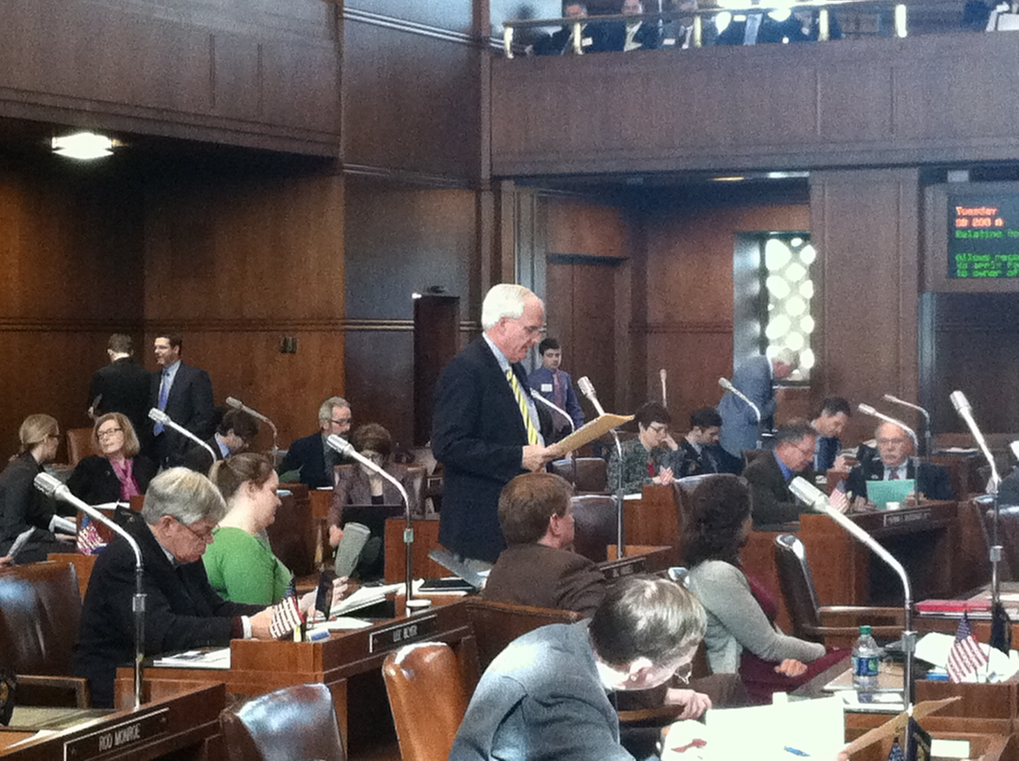 Speaking on the Senate Floor during the passage of Senate Bill 200 on a 29-0 vote in favor.