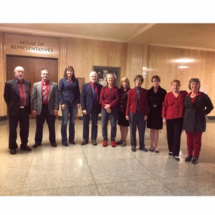 Legislators wearing red clothes