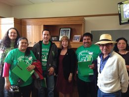 Susan with Friends of Family Farmers Representatives