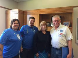 Susan with AFT Members