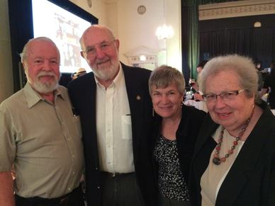 picture of Sen. Riley, Rep. Greenlick, Katie Riley, and Harriet Greenlick embracing at Project Access celebration
