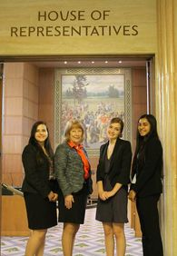 Susan and Glencoe Students on Speech and Debate Day at the Capitol