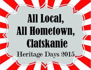 Clatskanie Heritage Days Flyer