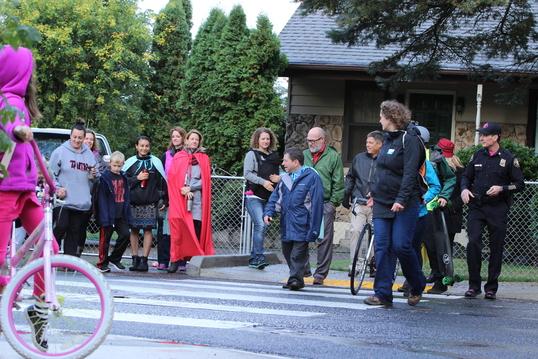 Novick crossing on Ramona Street