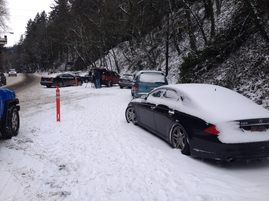 Abandoned Cars on West Burnside Chain up Area Dec 2014